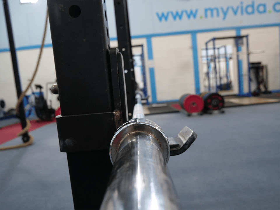 Barbell equipment at Vida Health and Fitness