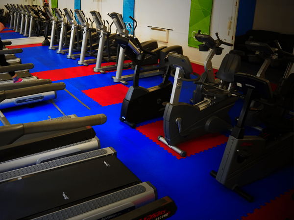 Various cardio equipment at Vida Health and Fitness