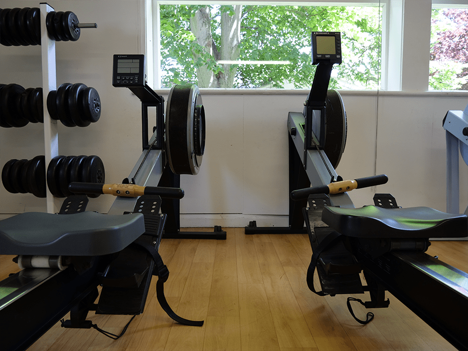 Two rowing machines at Vida Health and Fitness