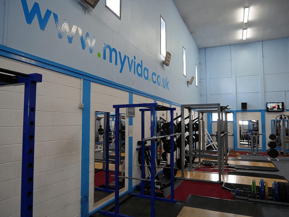 Gym walls at Vida Health and Fitness