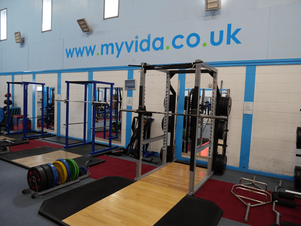Powerlifting area at Vida Health and Fitness