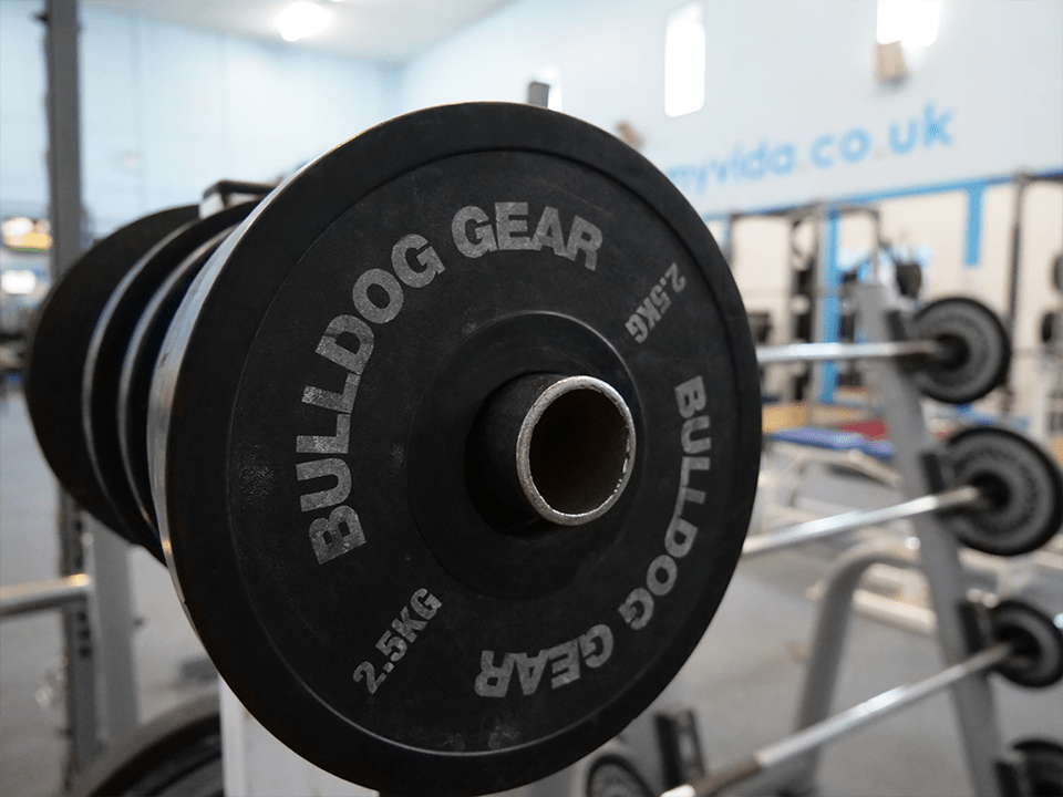 2.5kg microplates at Vida Health and Fitness