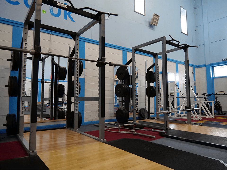 Powerlifting rack at Vida Health and Fitness