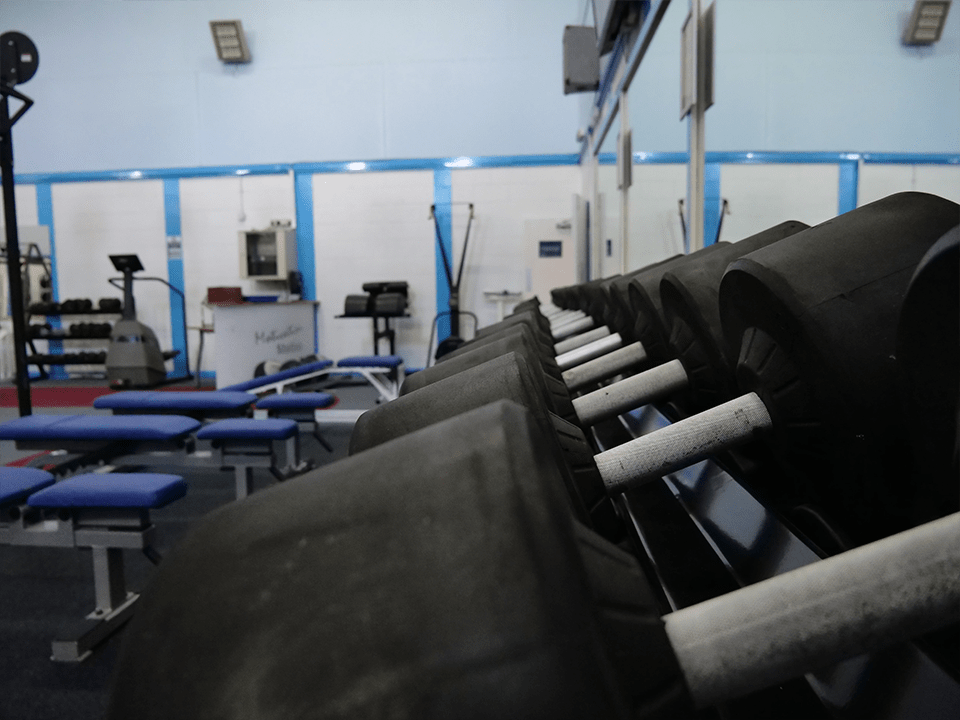 Heavy free weights at Vida Health and Fitness